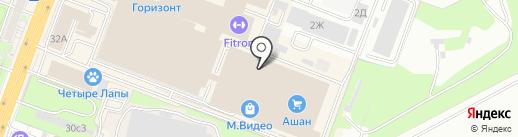 Магазин профессиональной косметики на карте Ростова-на-Дону