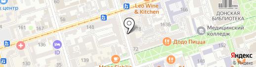 Пенная борода на карте Ростова-на-Дону