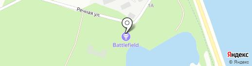 На речной на карте Липецка