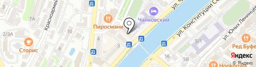 Каравелла на карте Сочи