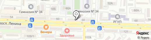 Кружева на карте Ростова-на-Дону