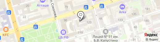 Хостелы Рус на карте Ростова-на-Дону