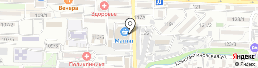 Руна на карте Ростова-на-Дону