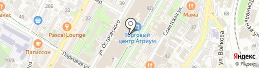 Subway на карте Сочи