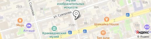 Три орешка на карте Ростова-на-Дону