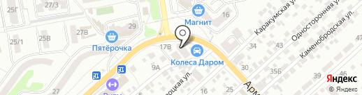 Флагман на карте Ростова-на-Дону