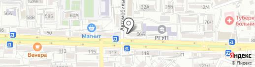 Эка-ногти на карте Ростова-на-Дону