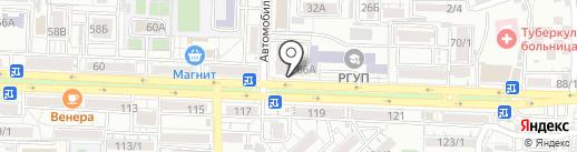 Золотой теленок на карте Ростова-на-Дону