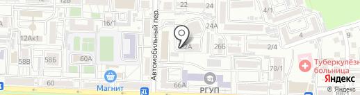 Автомобильный на карте Ростова-на-Дону