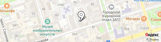 Оливковая ветвь на карте Ростова-на-Дону
