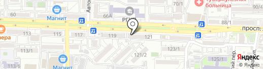 Сакура-экспресс на карте Ростова-на-Дону