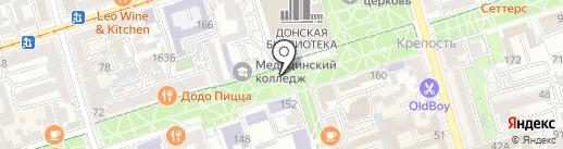 Киоск по продаже мороженого на карте Ростова-на-Дону