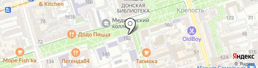 Большой кофе на карте Ростова-на-Дону
