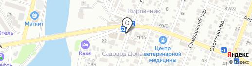Шарден на карте Ростова-на-Дону