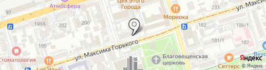 Оптима на карте Ростова-на-Дону