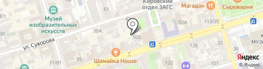 Sisters studio на карте Ростова-на-Дону