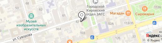 Мастерица на карте Ростова-на-Дону