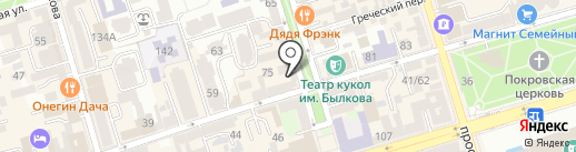 Jeffrey`s Coffee на карте Ростова-на-Дону