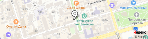Мишель на карте Ростова-на-Дону