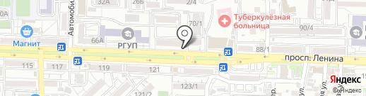 Окошкино на карте Ростова-на-Дону