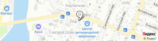 Магазин по продаже раков на карте Ростова-на-Дону