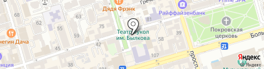 Магазин джинсовой одежды на карте Ростова-на-Дону