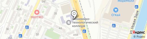 Университетский экономико-технологический колледж на карте Сочи