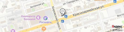 Будь здоров на карте Ростова-на-Дону