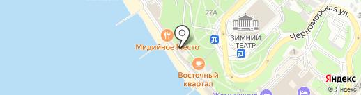 Верхняя палуба на карте Сочи