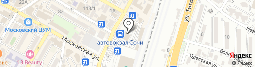 Сим-Сим на карте Сочи