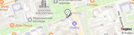 Лицей классического элитарного образования на карте Ростова-на-Дону