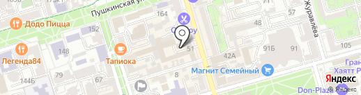 Донской щебень на карте Ростова-на-Дону