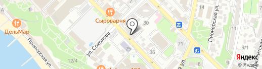 Hostel Sochi Hi на карте Сочи