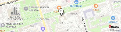 Поверенный советник на карте Ростова-на-Дону