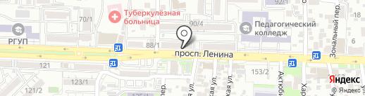 Хлеб и Пельмени на карте Ростова-на-Дону