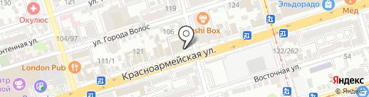 Перекресток на карте Ростова-на-Дону
