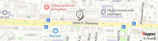 Магазин-ателье на карте Ростова-на-Дону