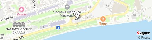 Панорама на карте Ростова-на-Дону