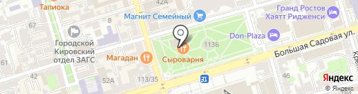 Ростов Папа на карте Ростова-на-Дону
