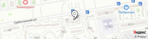 Медельер на карте Ростова-на-Дону