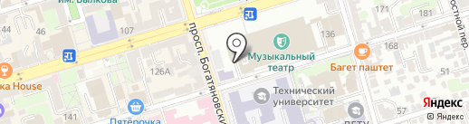 Автостоянка на карте Ростова-на-Дону