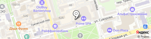 Квартс на карте Ростова-на-Дону