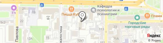 Район Мелроуз на карте Рязани