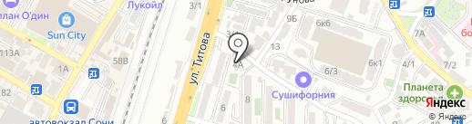Сочинский финансово-юридический колледж на карте Сочи