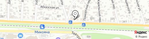Автоломбард №1 на карте Ростова-на-Дону