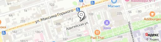 Крепостной Вал на карте Ростова-на-Дону