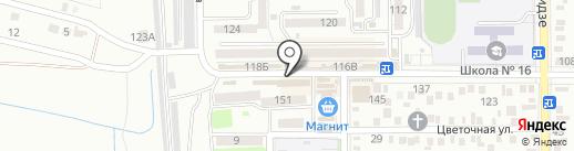 Хмельной на карте Батайска
