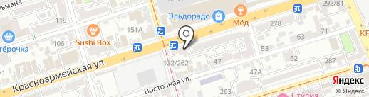 ДVери на карте Ростова-на-Дону