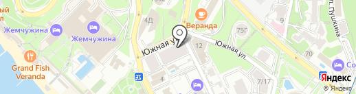 Светлана Парк на карте Сочи