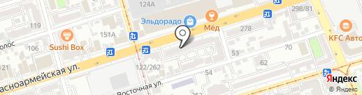 Астерия на карте Ростова-на-Дону